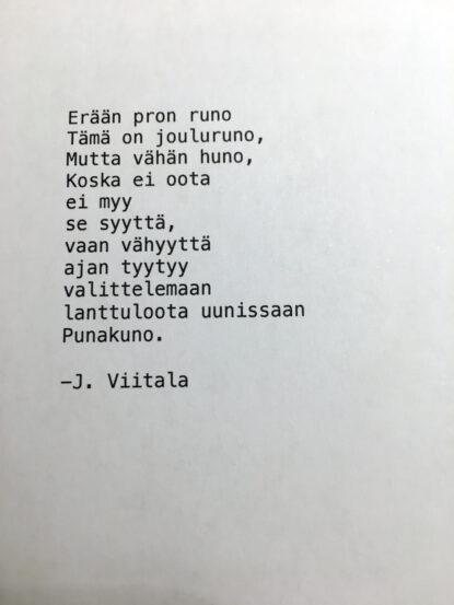 Erään pron runo